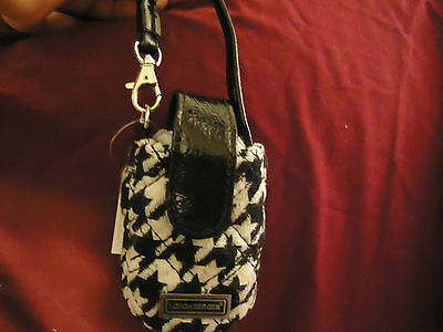 Longaberger Black Houndstooth Flip Phone Case--new with tags