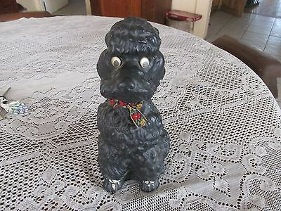 """Vintage Chalkware French Poodle, About 11"""" Tall"""