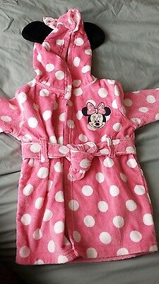disney minnie mouse, bath robe, night gown (6-9 months)