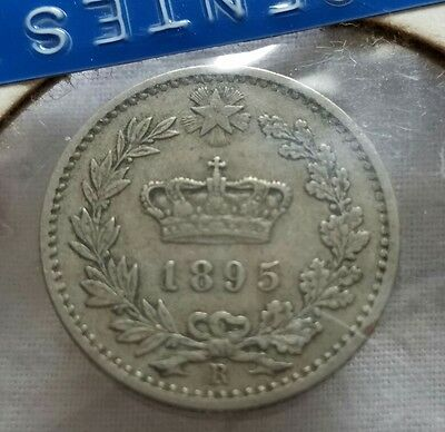 1895 R ITALY 20 CENTESIMI UNCIRCULATED Sleeved for decades!  L@@K