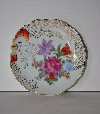 Antique Japanese Rooster Porcelain Plate Japan