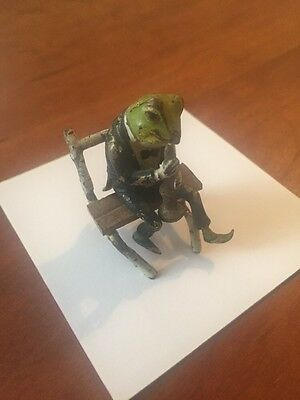 Vienna Bronze Frog Sitting On Bench Playing Horn Clarinet