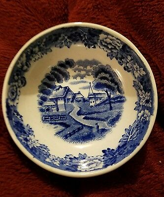ENOCH WOODS & SONS ENGLISH SCENERY CHILD'S DISH, Butter FROM ENGLAND