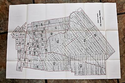 1915  Crown Heights East Flatbush Brooklyn Map New York Brownsville LARGE EXRARE