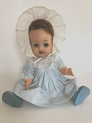 VINTAGE 1950s BETSY WETSY VW1 IDEAL DOLL WITH BLUE DRESS