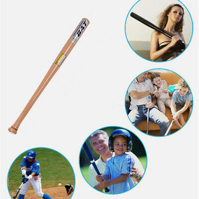 Solid Wooden Baseball Bat Softball Horniness Wood Outdoor Sport Adult 25/29/32