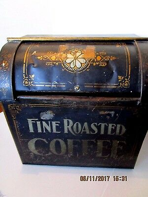 Antique Large Coffee Grocery Store tin/bin
