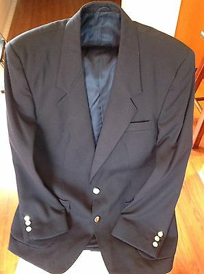 Men's Navy Pure Wool Blazer/Sports Coat. Size 42/107R. Brand New.Fantastic Price