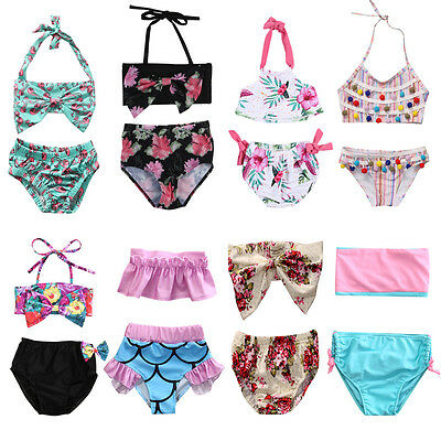 Hot Toddler Baby Girl Kid Swimsuit Bathing Tankini Bikini Set Swimwear Beachwear