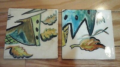 Vintage Gladding Mc Bean Hand Painted Tiles- 2