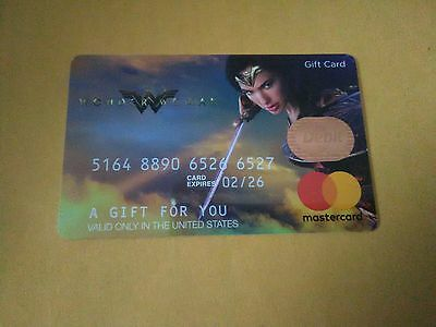 collectible gift card WONDER WOMAN no money value MINT