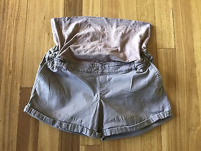 Target Brown Maternity Shorts Size 18
