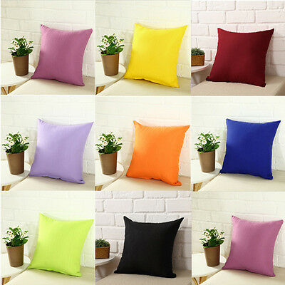 Home Decor Vintage Art Style Cotton Linen Pillow Case Sofa Throw Cushion Cover