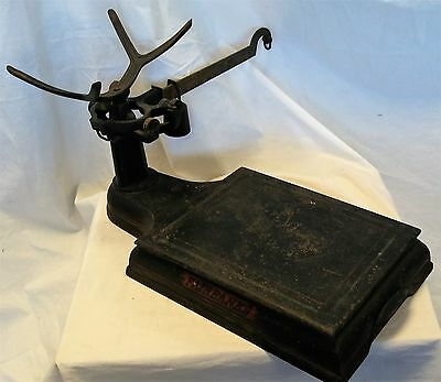 Fairbanks Morse Antique Cast Iron Platform Counter-Top Scale 44 lb