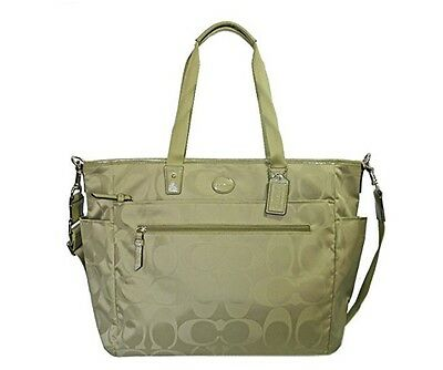 Coach Signature Nylon Baby Bag Diaper Multifunction Tote