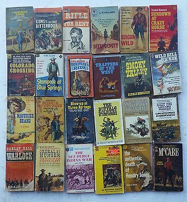 Vintage Western Paperback Books Lot of 24 Various Authors lot 5