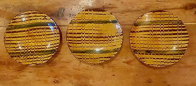 "Lester Breininger Robesonia PA Signed Redware Pottery Set of 3 -7"" Plates 1983"