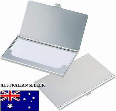 Stainless Steel Business Card Holder Metal Box Case Pocket Cards