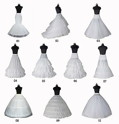 White A-line/Mermaid Bridal Petticoat Crinoline Underskirt Slip Ball Fancy Skirt