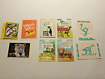 Vtg Cracker Jack Prize Lot of 9 prizes Animal fact cards, Who's Who in the Zoo