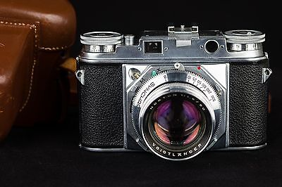 MINT Voigtlander Prominent I w/ 50mm f1.5 Nokton and Case