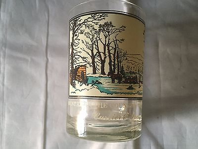 Drinking Glass Arbys Collectors Series 1981 Currier and Ives Winter Pastime Vtg