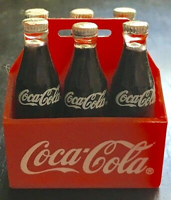 """Vintage 1995 * Coca Cola 6 Pack Case * Refrigerator Magnets 2""""- FREE SHIPPING"""