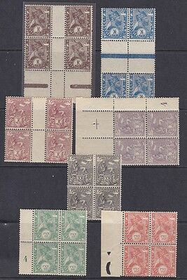 1894 ETIOPIA/ETHIOPIE/ATHIOPIEN - n° 1/7 set of 7 values in block of 4 MNH/**
