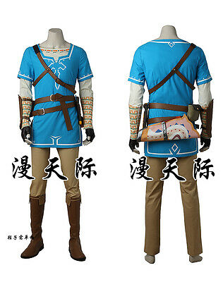 The Legend of Zelda: Breath of the Wild Link's Costume with Boots Cosplay