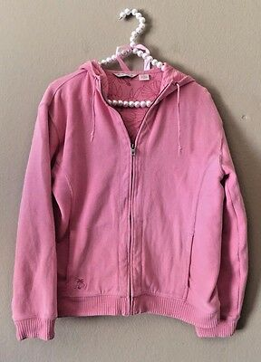 Tommy Bahama Women's Pink Full Zip Up Hoodie Sweater Size Small