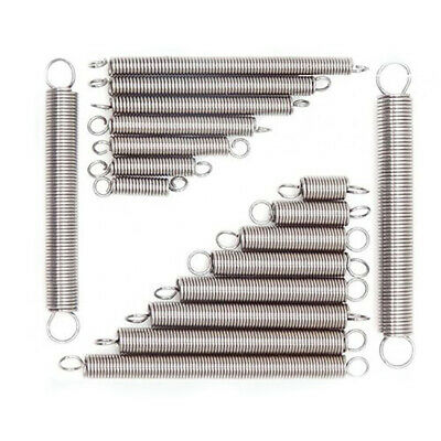 10pcs 0.3mm/0.5mm/0.6mm 304 Stainless Steel Expansion Spring Tension Extension