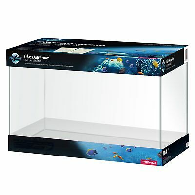 Blue Planet Glass Aquarium With Lid 44 x 28 x 30cm 30L Fish Tank Glass