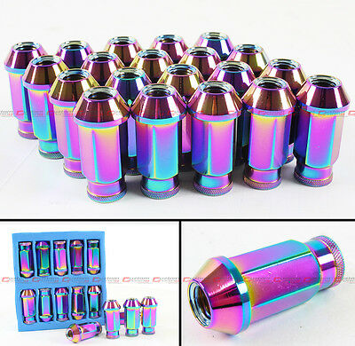 20 PCS JDM SPEC NEO CHROME EXTENDED WHEEL RIM LUG NUTS FOR SCION tC Xb IQ XD