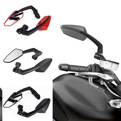 Set Of 2 Motorcycle Motorbike Bike Universal Rear View Mirrors 8/10Mm Fitment