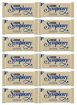 909639 12 x 120g BARS HERSHEYS SYMPHONY MILK CHOCOLATE ALMONDS AND TOFFEE CHIPS