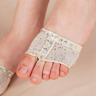 Crystal Foot Thong Toe Undies Dance Paws Half Lyrical Ballet Forefoot Cover Top