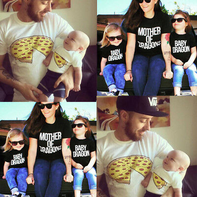Fashion Family Clothes Mother Father Son Baby Girls Boy Kid Shirt T-shirt Tops