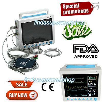 """Portable Patient Monitor Vital Signs 6parameter ICU 12.1""""LCD Monitor(CO2 Option)"""