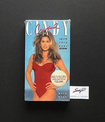 VHS CINDY CRAWFORD / Shape Your Body Workout / REVLON (NEW) 1992