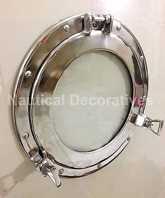 "vintage style 15"" Ship porthole round coastal wall glass window Home Decor"