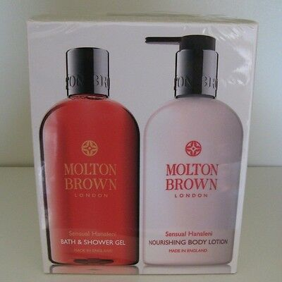 Molton Brown Sensual Hanaleni Body Wash and Lotion Set. 2x 300ml