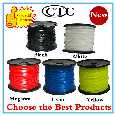 3D Printer Printing Filament PLA /ABS 1Kg 3.0MM Roll For Makerbot UP Huxley  UK