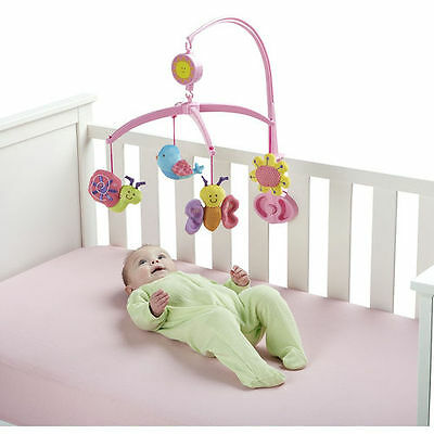 Bruin Garden Patch Pals Musical Mobile for Baby Nursery Cot