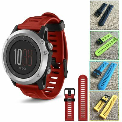 Sport Replacement Silicone Watch Wrist Band Strap + Tools For Garmin Fenix 3
