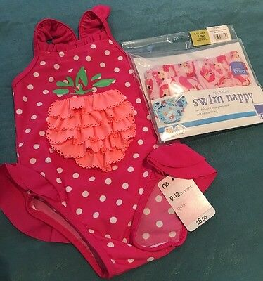 Mothercare Swimsuit 9-12 Months & Bambino Mio Swim Nappy 6-12 Months