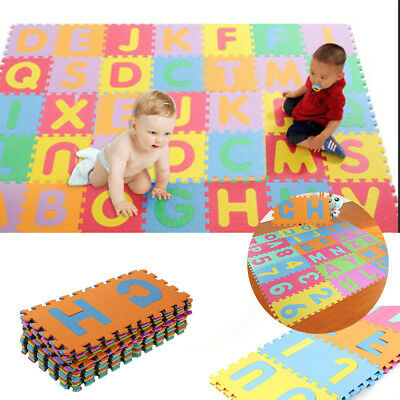 36pcs LARGE Alphabet Numbers EVA Floor Mat Baby Room Jigsaw ABC 123 Foam Puzzle