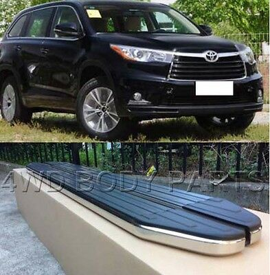 (283) Toyota Kluger 2014 to 2017 Aluminium Side Steps Running Boards