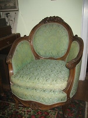 Pair Carved Wood Bird-Themed Upholstered Chairs, Moving Soon!, Pick-Up Only