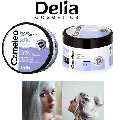 DELIA Anti Yellow Hair Mask No Yellow for Blonde Silver Purple tone & Grey Hair