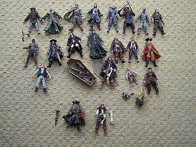pirates of the caribbean action figures job lot DAMAGED